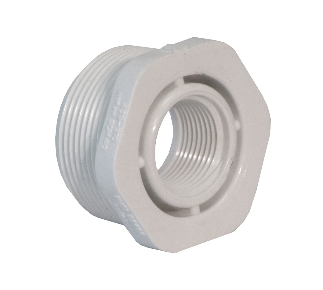 Threaded reducer quot to sch pvc fitting