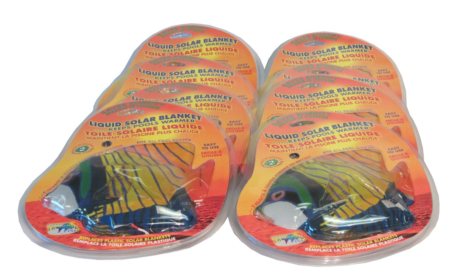 Liquid solar blanket 8 solar fish ebay for Solar fish for pools