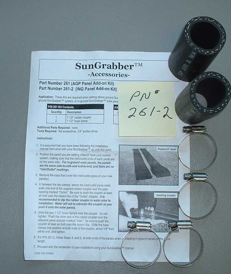 Sungrabber Add On Kit For Roof Rack Mounted Swimming Pool