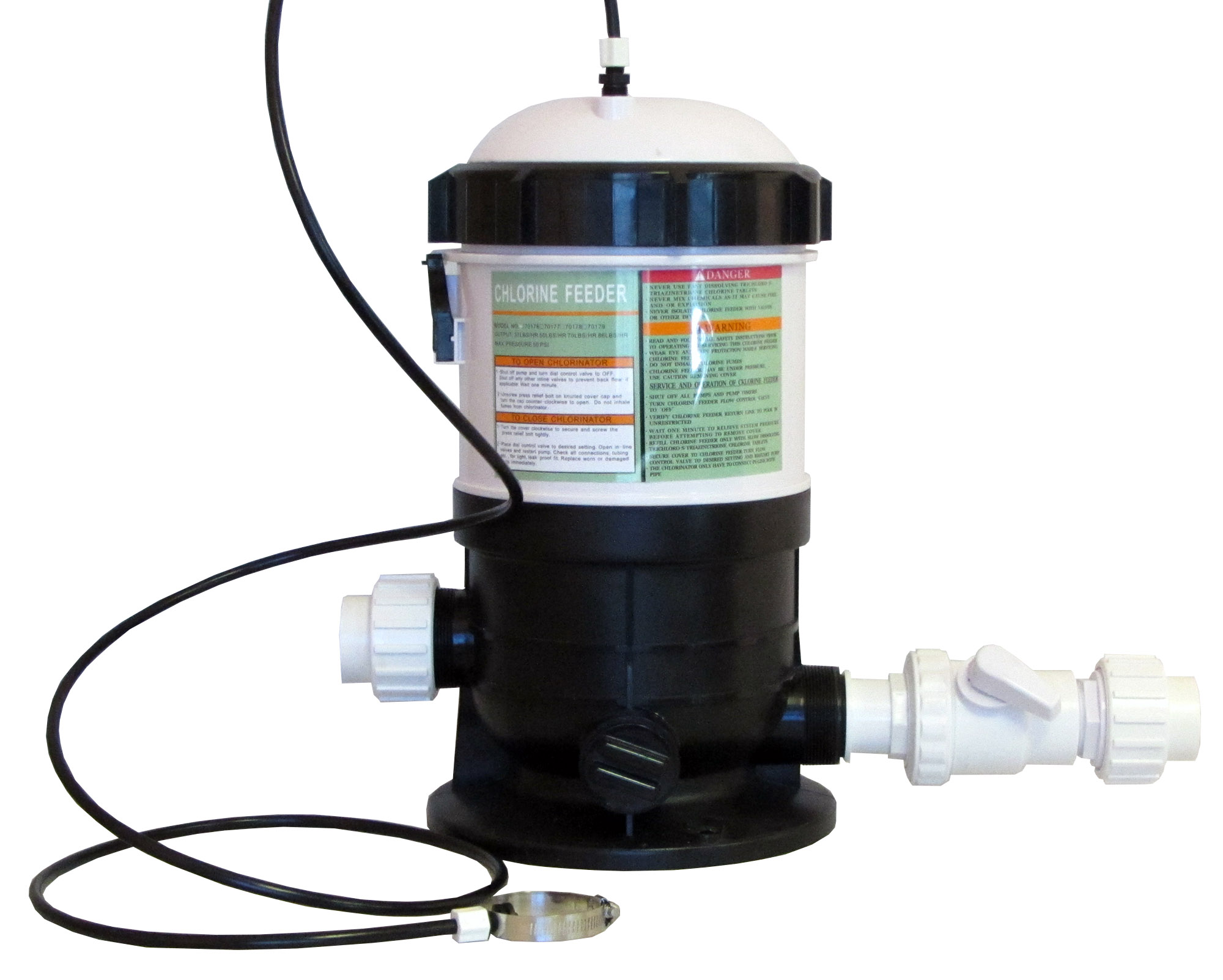 Automatic Chlorinator For Swimming Pools 20 Lbs Capacity With Fittings Ebay