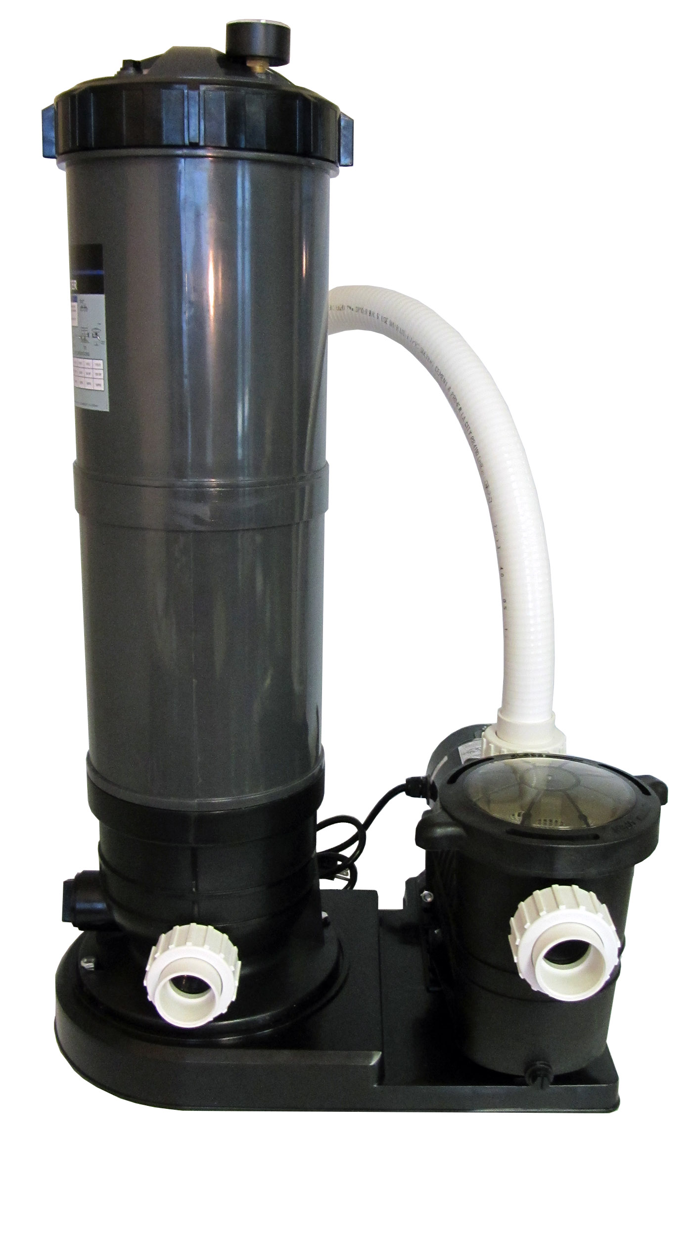 In ground swimming pool cartridge filter system with 2 for Pool filterpumpe obi